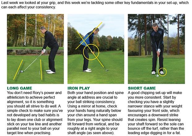 Golf set-up